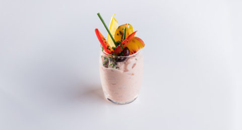 Verrine shrimps cocktail